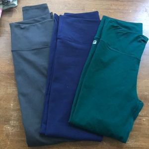 3 pairs of Fabletics high waisted leggings